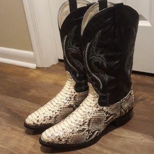 J.B.Dillon Western Cowboy boots snake sz.13 EE